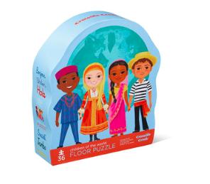Rompecabezas 36 piezas niños del mundo