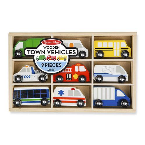 Set vehículos de madera Ciudad