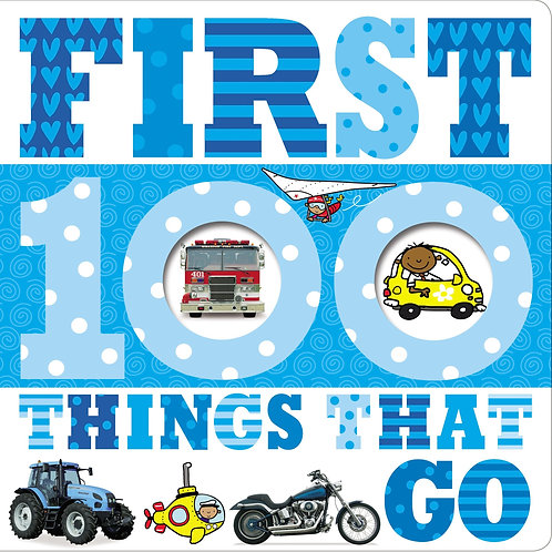 Libro Infantil 100 Things That Go First Blue