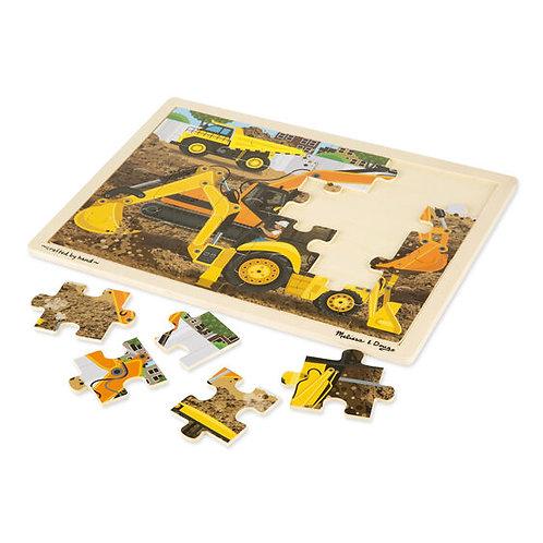 Rompecabezas retro-excavadora x 24 piezas