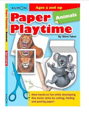 Libro Kumon Paper playtime animals