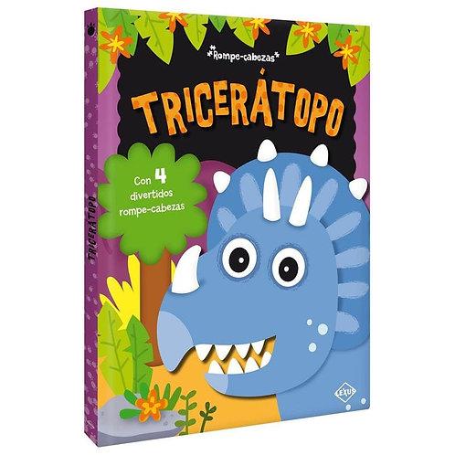 Libro Infantil y Rompecabezas Dinosaurios Triceratop