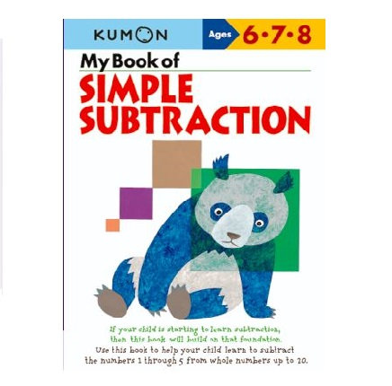 Libro Kumon My book of simple subtraction