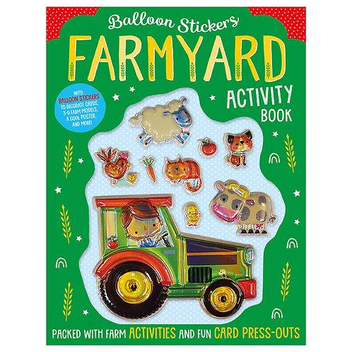 Libro De Actividades Balloon Stickers Farmyard Activity Book