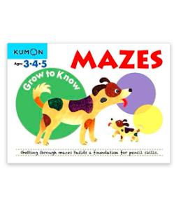 Libro kumon: Grow to know mazes
