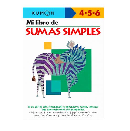 Libro Kumon Mi libro de sumas simples