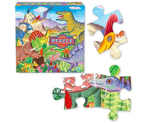 Rompecabezas 64 piezas Dinosaurios