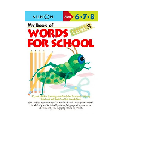 Libro Kumon My book of words for school level 3