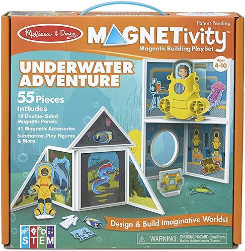 Set De Construcción Magnético Aventura Bajo El Agua