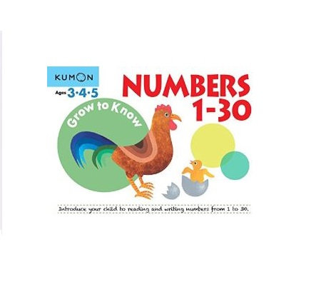 Libro Kumon Grow to know numbers 1-30
