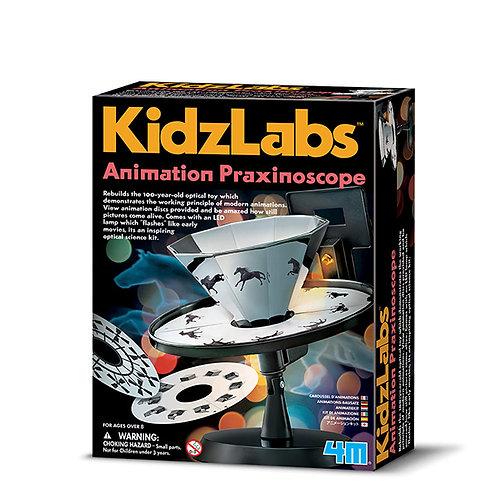 Experimento de juguete : Praxinoscopio