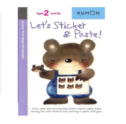Libro Kumon Let's sticker and paste