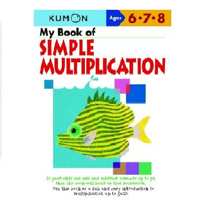 Libro Kumon My book of simple multiplication