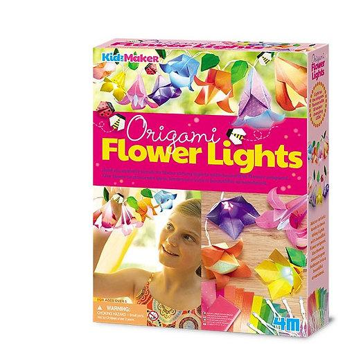 Manualidades : Flores de origami-Decora tus luces