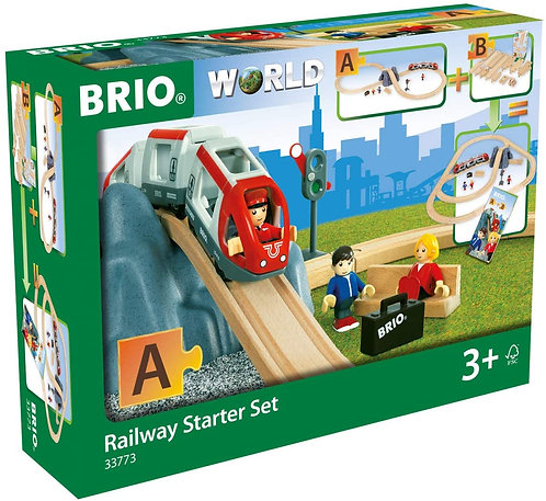 Pista De Tren en Madera Clásica