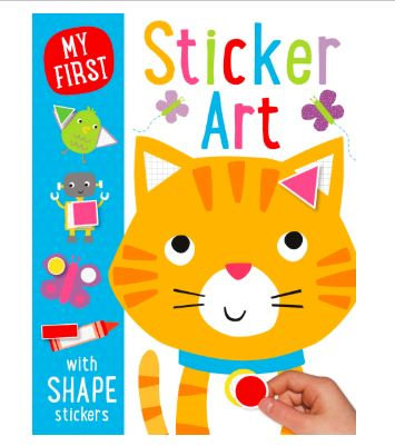 Libro inglés: My first sticker art