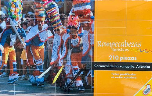 Rompecabezas 210 piezas Carnaval de Barranquilla, Atlántico