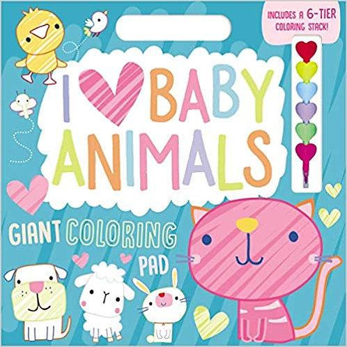 Libro De Actividades I Love Baby Animals Giant Coloring Pad