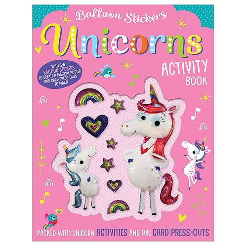 Libro De Actividades Balloon Stickers Unicorns Activity Book