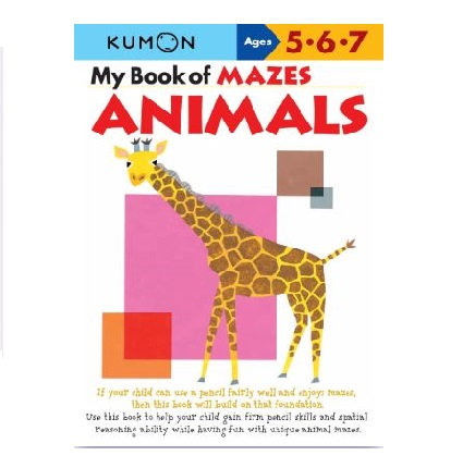 Libro Kumon My book Of Mazes Animals