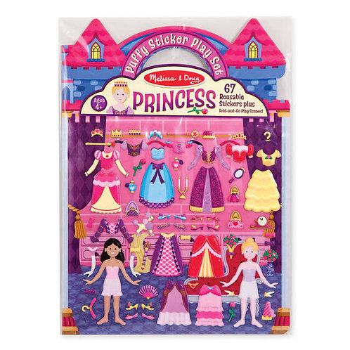 Stickers con relieve: Princesas