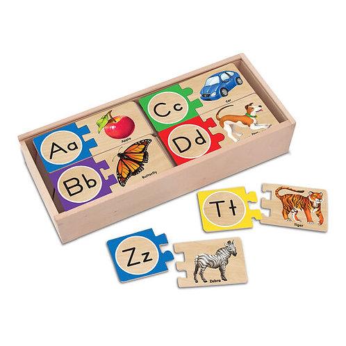 Rompecabezas asociativo del alfabeto