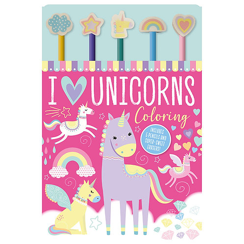 Libro De Manualidades I Love Unicorns Color