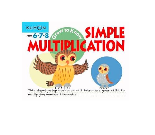 Libro Kumon Grow to Know simple multiplication