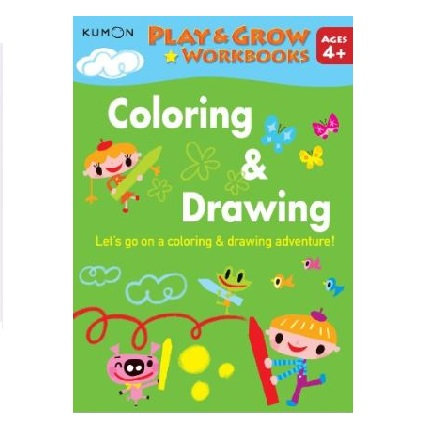Libro Kumon Play and grow coloring and drawing