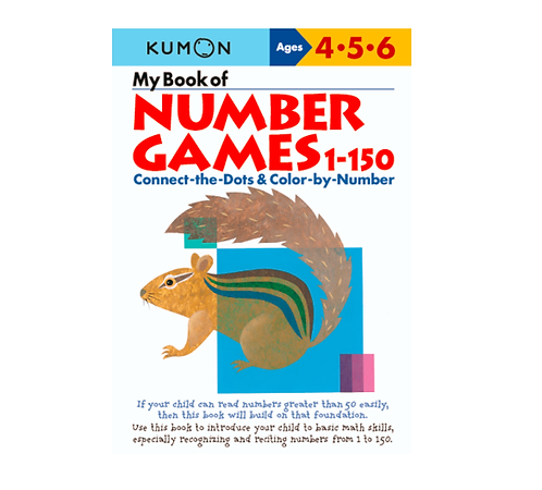 Libro Kumon My Book Of Number Games 1-150
