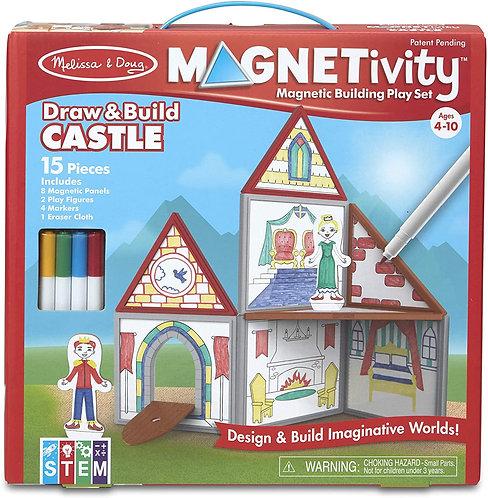 Set De Construcción Magnético Castillo Para Pintar