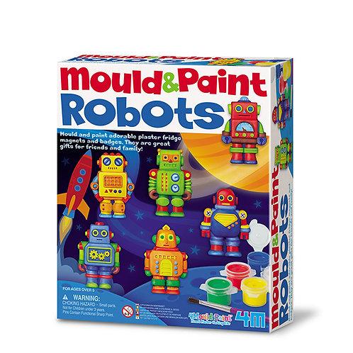 Manualidades : Moldea y pinta: Robots
