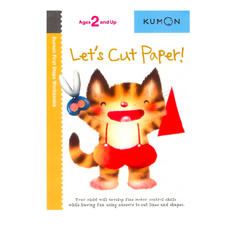 Libro Kumon Let's cut paper
