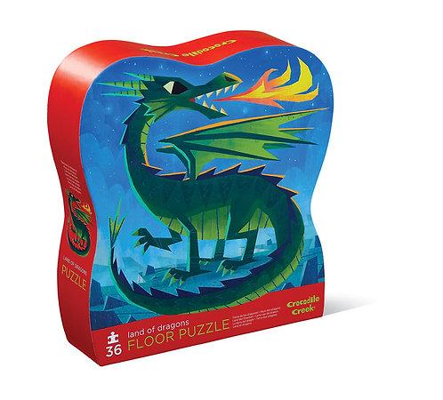 Rompecabezas 36 piezas Tierra de dragones