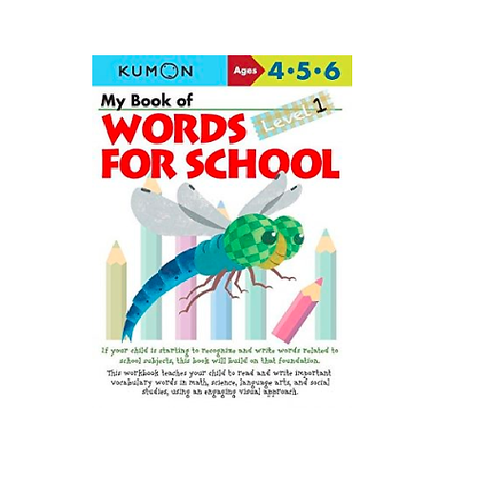 Libro Kumon My book of words for school level 1