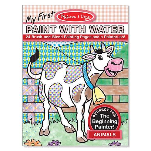 Libro para pintar con agua Animales