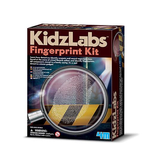 Experimento de juguete :  Kit de huellas dactilares