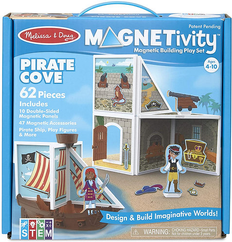 Set De Construcción Magnético Barco Pirata