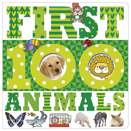 Libro Infantil 100 Animals First Green