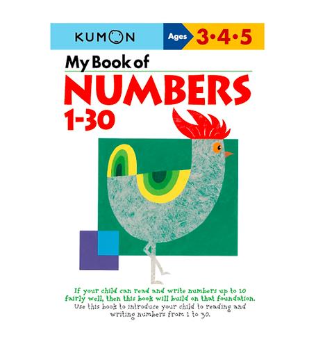 Libro Kumon My book of numbers 1-30