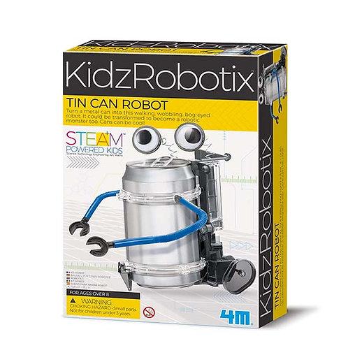Experimento de juguete :  Robot de lata