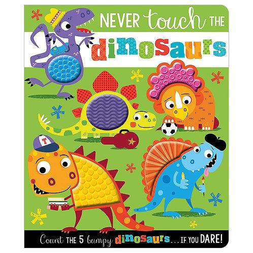 Libro De Texturas Never Touch The Dinosaurs