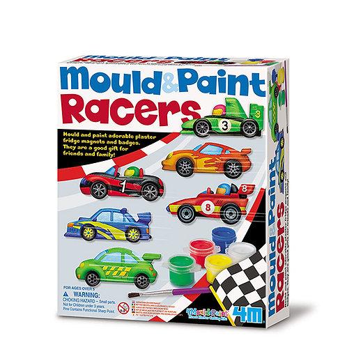 Moldea y pinta: Carros de carreras
