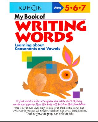 Libro kumon: My book of writing words