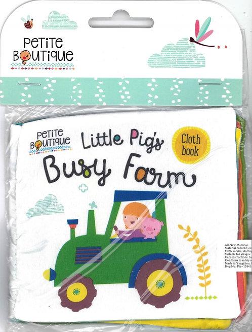 Libro De Tela Petite Boutique Busy Farm Cloth Book