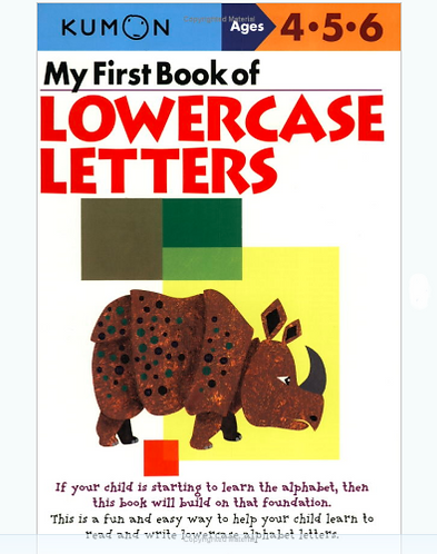 Libro kumon: Lowercase letters