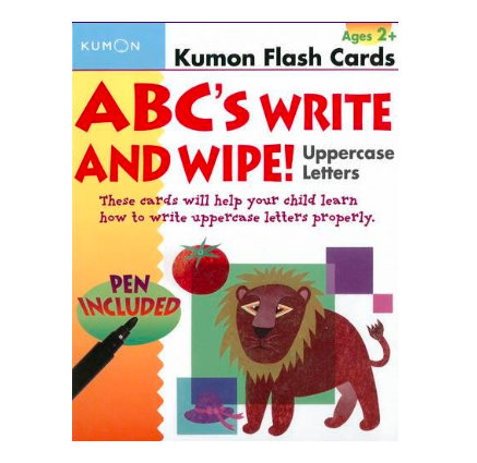 Flashcards kumon: ABC´s write and wipe uppercase letters