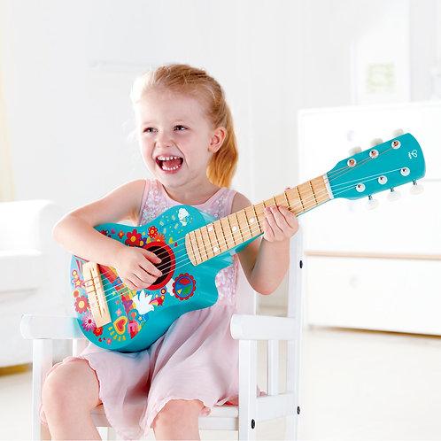 Guitarra Azul Diseño A Mano