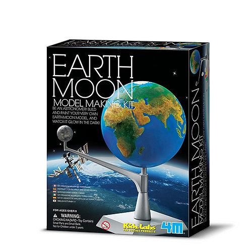 Experimento de juguete :  Modelo de la luna y la tierra