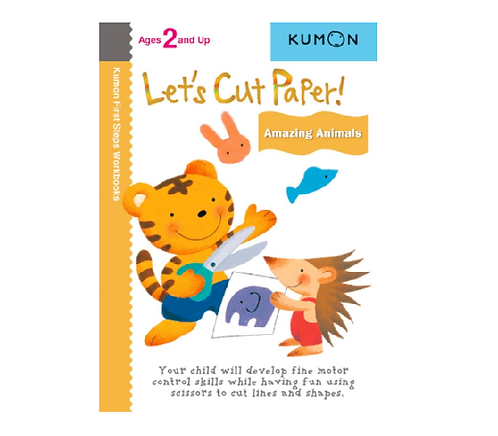 Libro Kumon Let's Cut Paper Amazing Animals